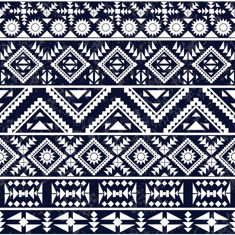 Naadloos zwart-wit etnisch patroon vector illustratie