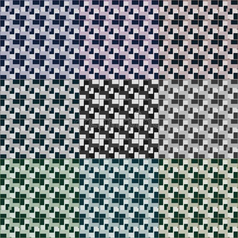 Naadloze 3d vierkanten vectorpatronen vector illustratie