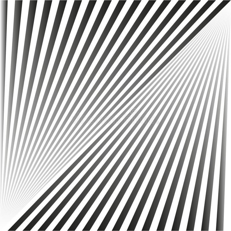 Naadloze abstracte achtergrond in de vorm van grijze stralen en strepen royalty-vrije illustratie
