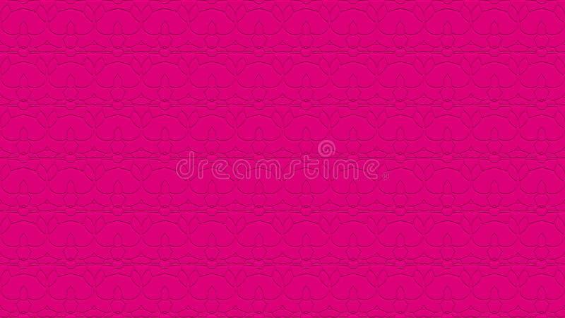 Naadloze abstracte achtergrond in hete roze tonen met gekrabbel stock afbeelding