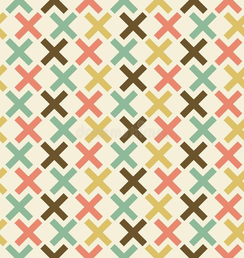 Naadloze abstracte geometrische achtergrond. Geruit patroon. Geborduurde decoratieve kantachtergrond vector illustratie