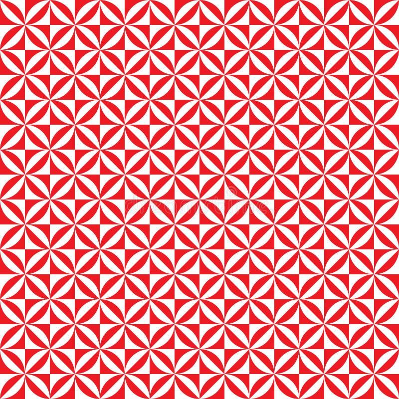 Naadloze abstracte geometrische uitstekende het patroonachtergrond van de dekbedtegel stock illustratie