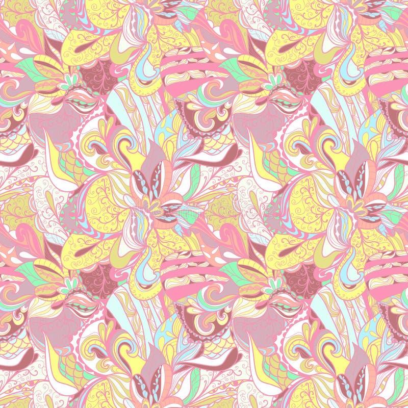 Naadloze abstracte hand-drawn textuur royalty-vrije illustratie