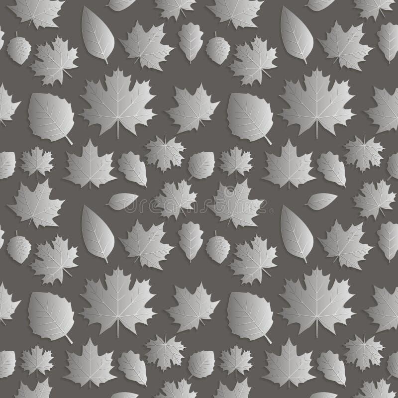 Naadloze abstracte illustratie als achtergrond van aard 3D cijfer, stock illustratie