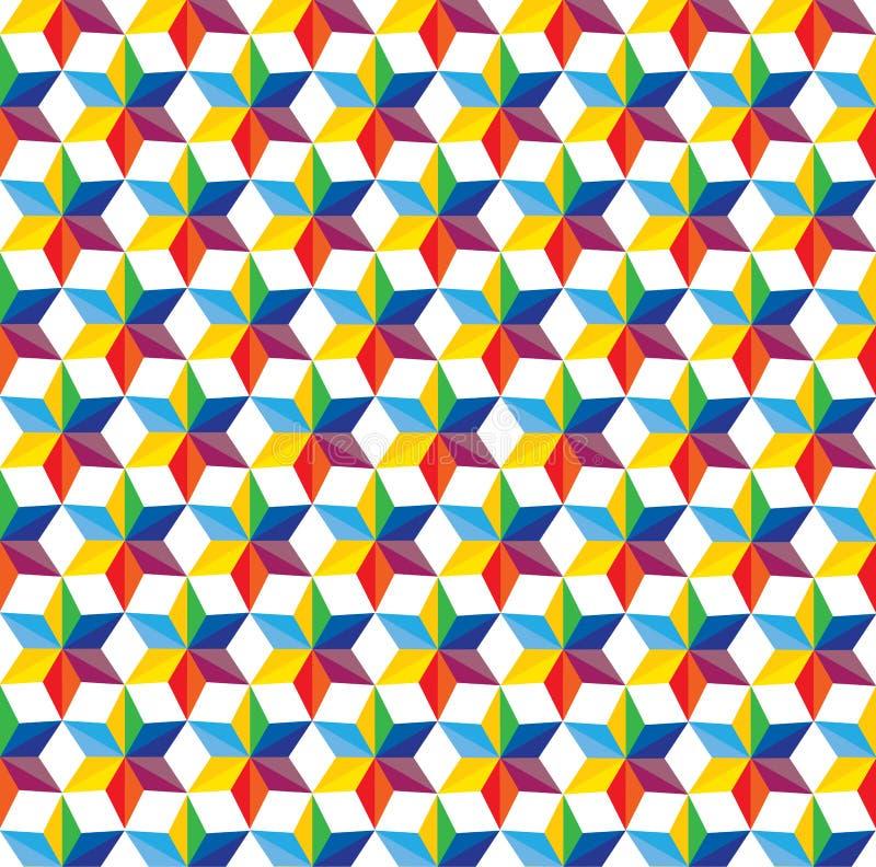 Naadloze abstracte kleurrijke achtergrond van ster shap royalty-vrije illustratie