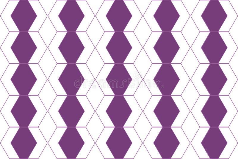 Naadloze, abstracte kunst als achtergrond die met hexagon vormen wordt gemaakt stock illustratie