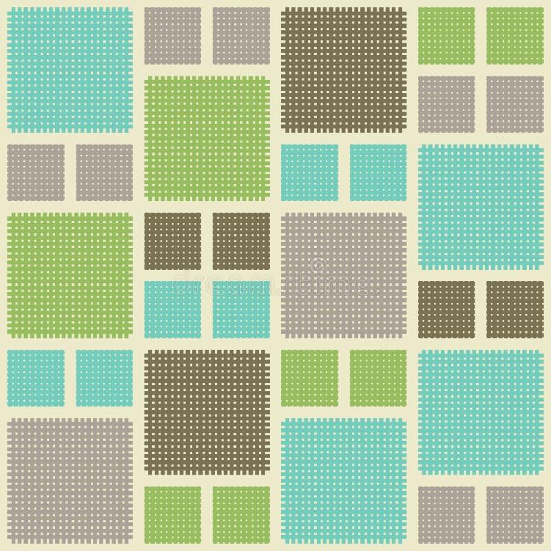 Naadloze abstracte retro vierkante achtergrond royalty-vrije illustratie
