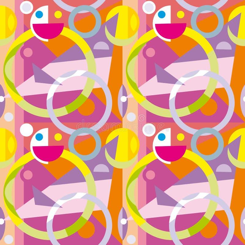 Naadloze abstracte textuur die uit geometrische vormen bestaan stock illustratie