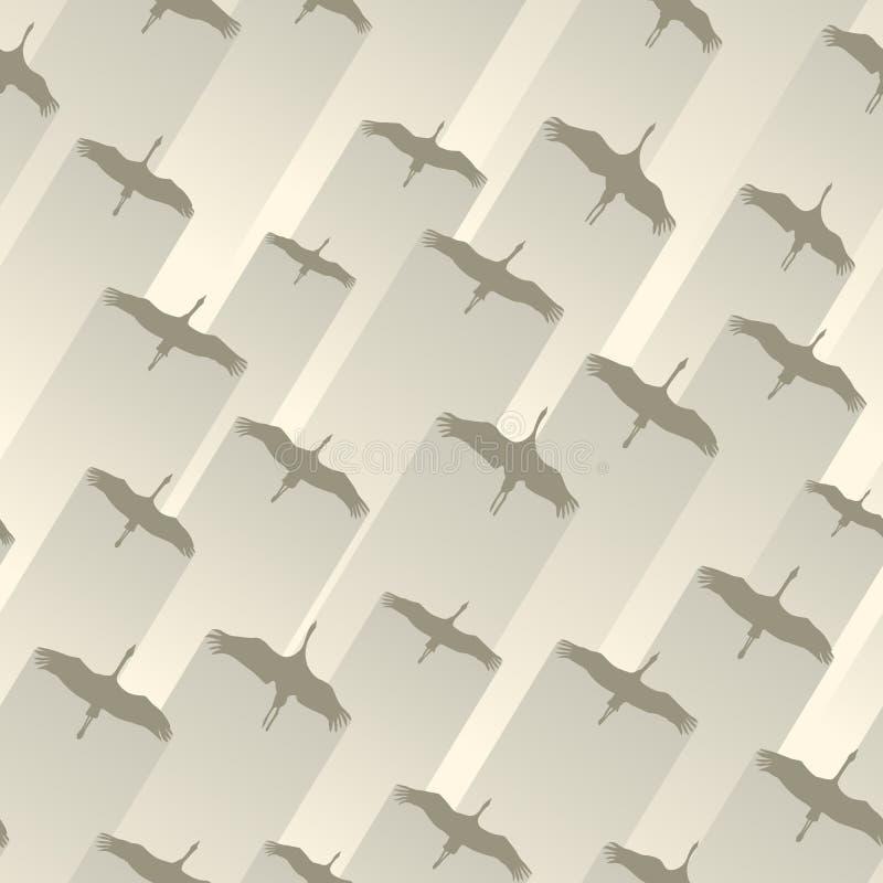Naadloze abstracte troep als achtergrond van kranen vector illustratie