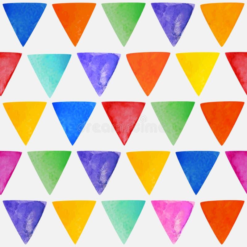 Naadloze abstracte waterverf driehoekige achtergrond royalty-vrije illustratie