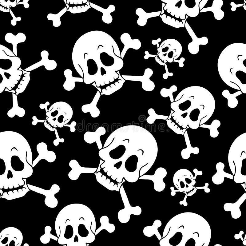Naadloze achtergrond 1 van het piraatthema royalty-vrije illustratie