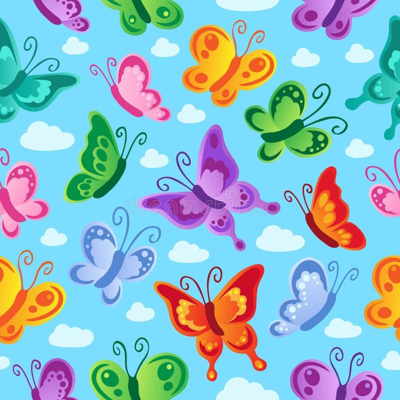 Naadloze achtergrond 2 van de vlinder royalty-vrije illustratie