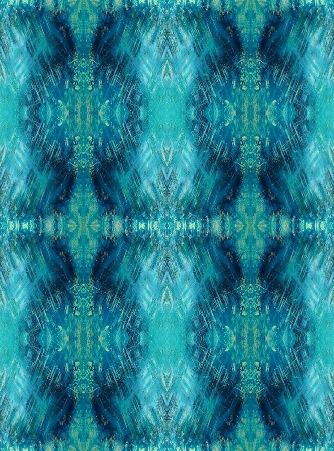 Naadloze Achtergrond Abstract grunge geometrisch patroon Blauw en marine vector illustratie