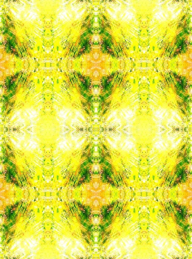 Naadloze Achtergrond Abstract grunge geometrisch patroon Heldere Geel vector illustratie