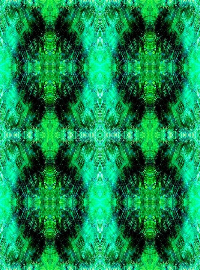Naadloze Achtergrond Abstract grunge geometrisch patroon Scherpe heldergroen vector illustratie