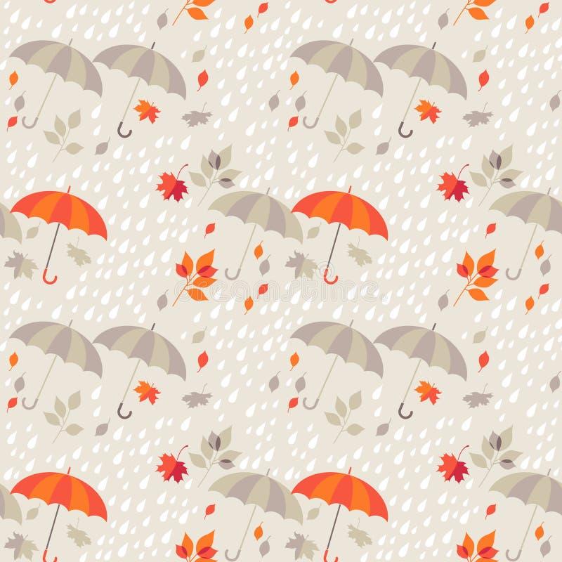 Naadloze achtergrond - de herfst vector illustratie