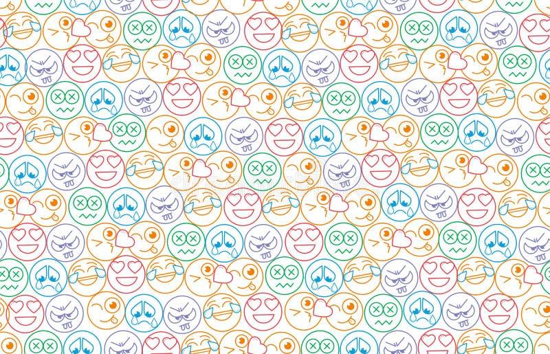 Naadloze achtergrond in de vorm van glimlachen vector illustratie