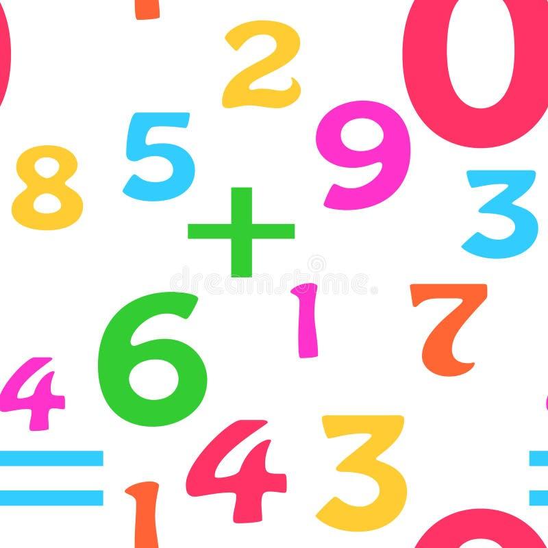 Naadloze Achtergrond Math stock illustratie