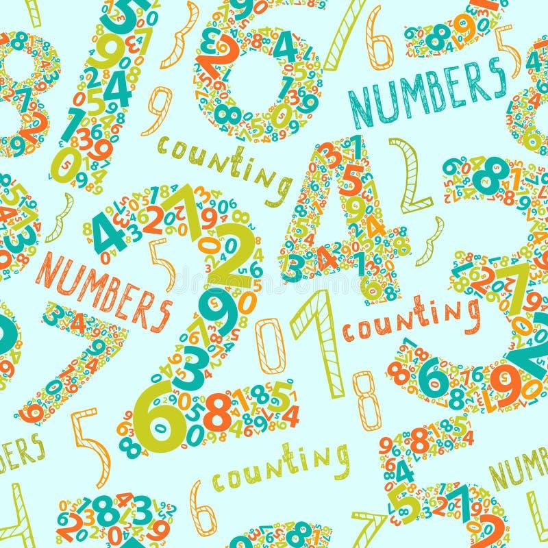 Naadloze achtergrond met aantallen vector illustratie