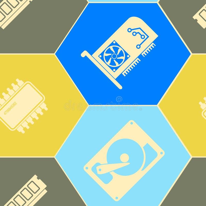 Download Naadloze Achtergrond Met Computerhardware En Componenten Vector Illustratie - Illustratie bestaande uit laptop, patroon: 54085888