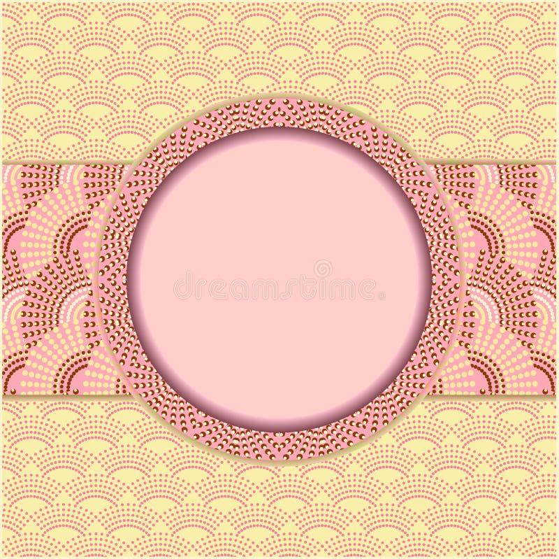 Naadloze achtergrond met decoratief kader vector illustratie