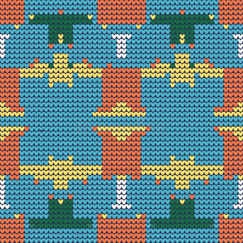 Naadloze achtergrond met Gebreid geometrisch patroon royalty-vrije illustratie