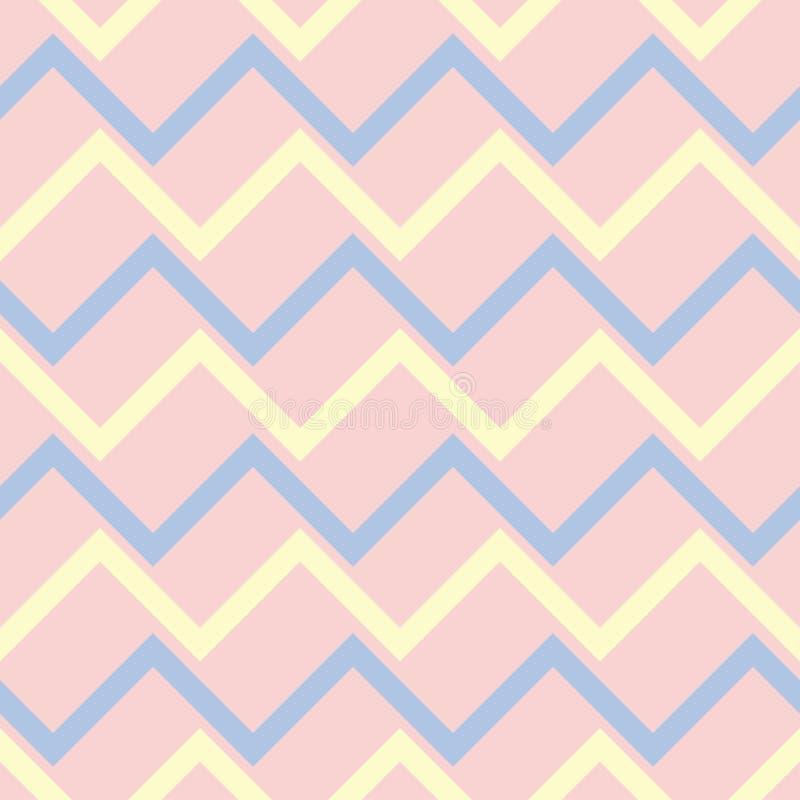 Naadloze achtergrond met gekleurd geometrisch patroon Roze, blauwe en beige elementen royalty-vrije illustratie