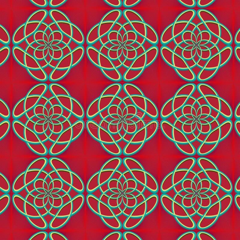 Naadloze achtergrond met monogrammen vector illustratie
