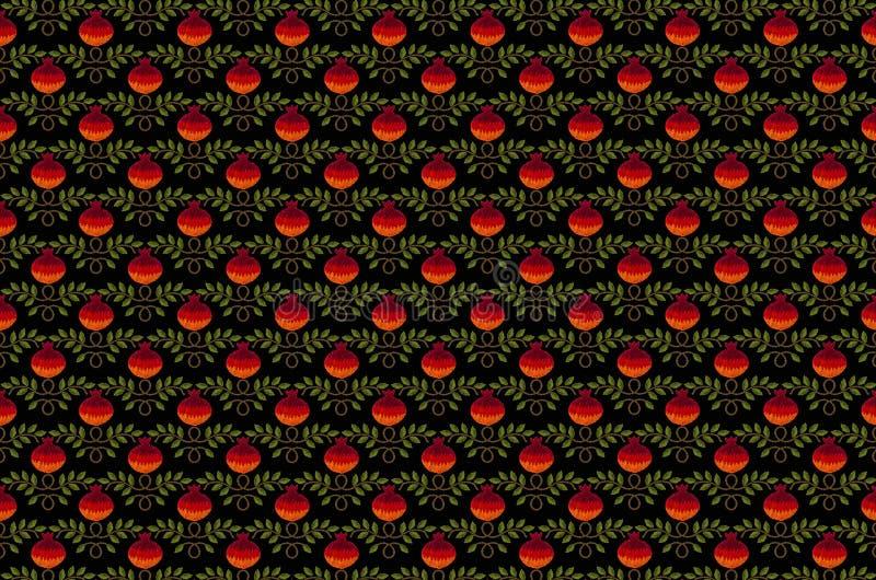 Naadloze achtergrond met rode granaatappel vector illustratie