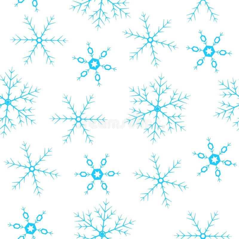 Naadloze achtergrond met sneeuwvlokken stock foto