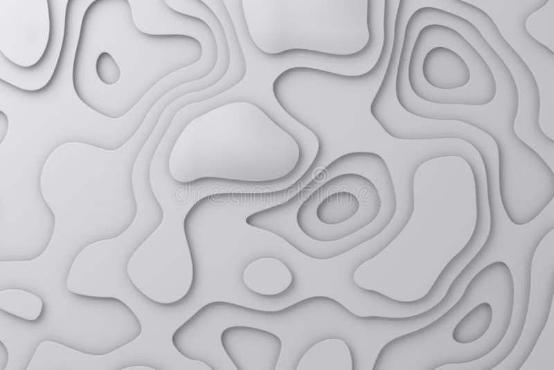 Naadloze Achtergrond Modieuze lineaire textuur De golvende lijnen Geef 3D terug royalty-vrije stock afbeelding