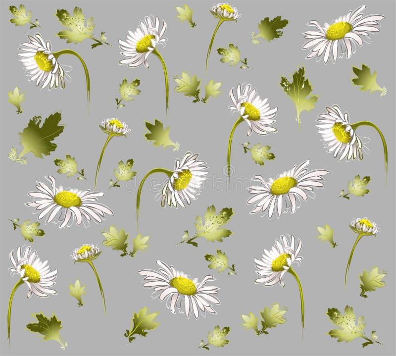Naadloze achtergrond van een bloemenornament, fashi royalty-vrije illustratie