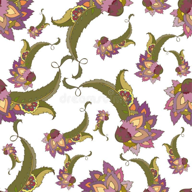 Naadloze achtergrond van een Paisley ornament, fashi vector illustratie