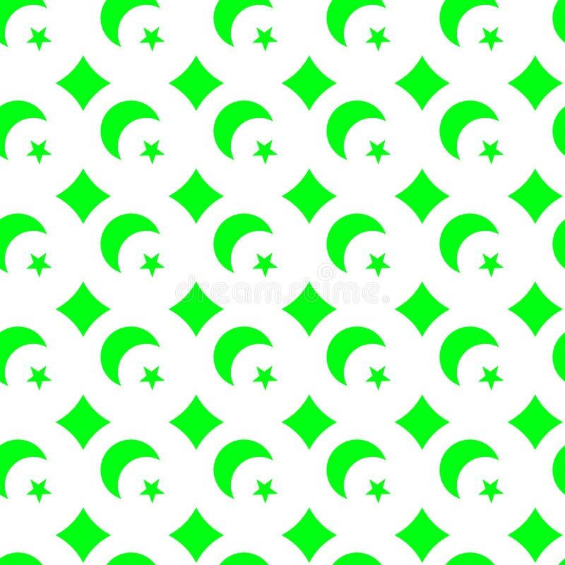 Naadloze Achtergrond van Fluo de Groene Lovertjes stock illustratie