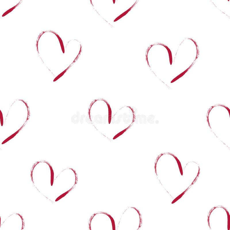 Naadloze achtergrond van harten vector illustratie