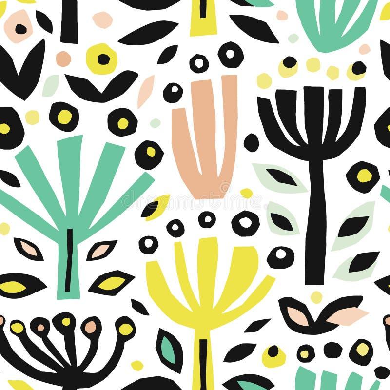 Naadloze achtergrond van kleurrijk abstract patroon stock illustratie