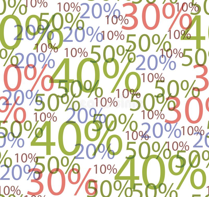 Naadloze achtergrond van kortingen vector illustratie