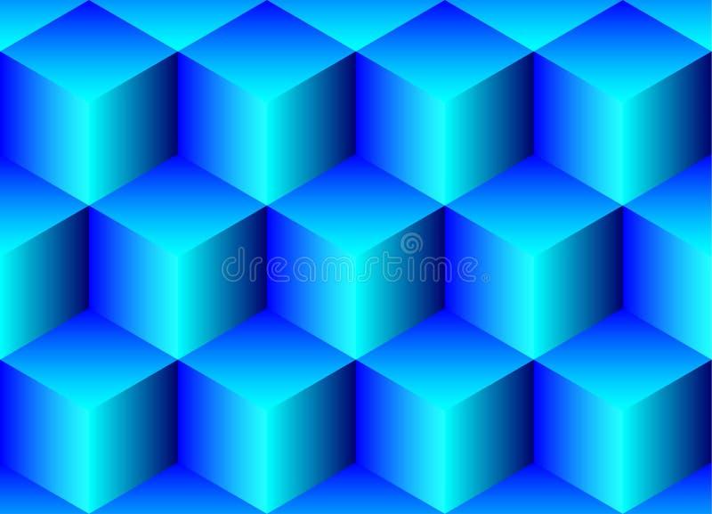 Naadloze achtergrond van kubussen stock illustratie
