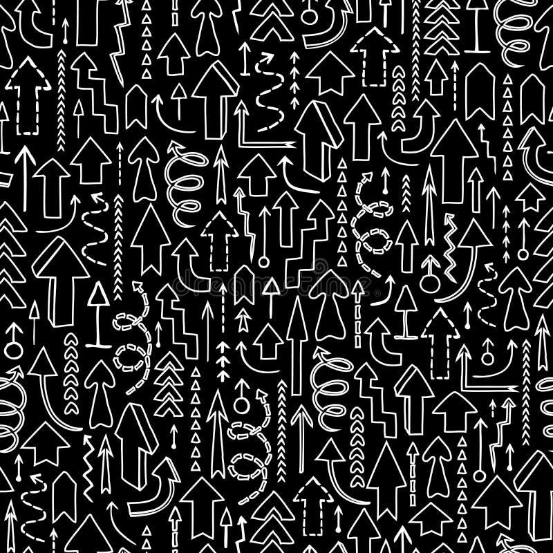 Naadloze achtergrond van pijlen vector illustratie