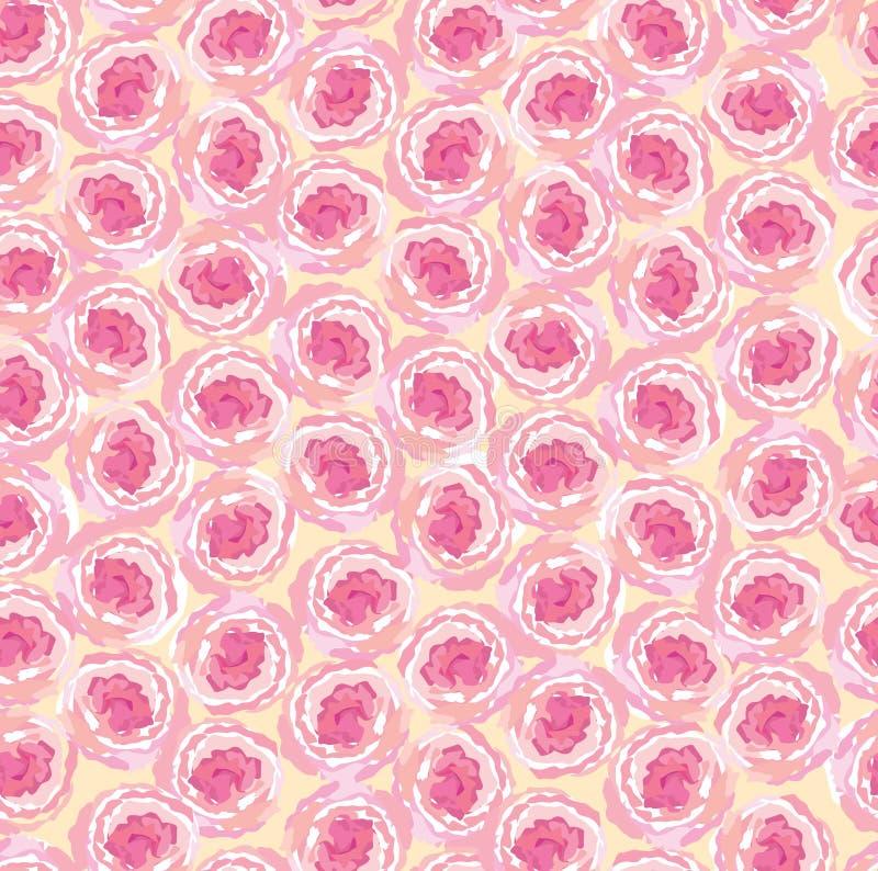 Naadloze achtergrond van roze rozen stock illustratie