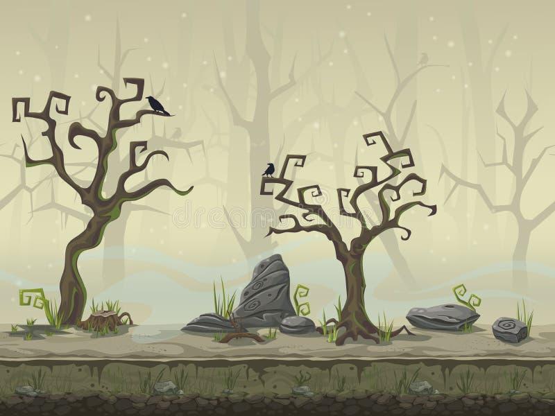 Naadloze achtergrond voor een de plaatsmoeras van het computerspel vector illustratie
