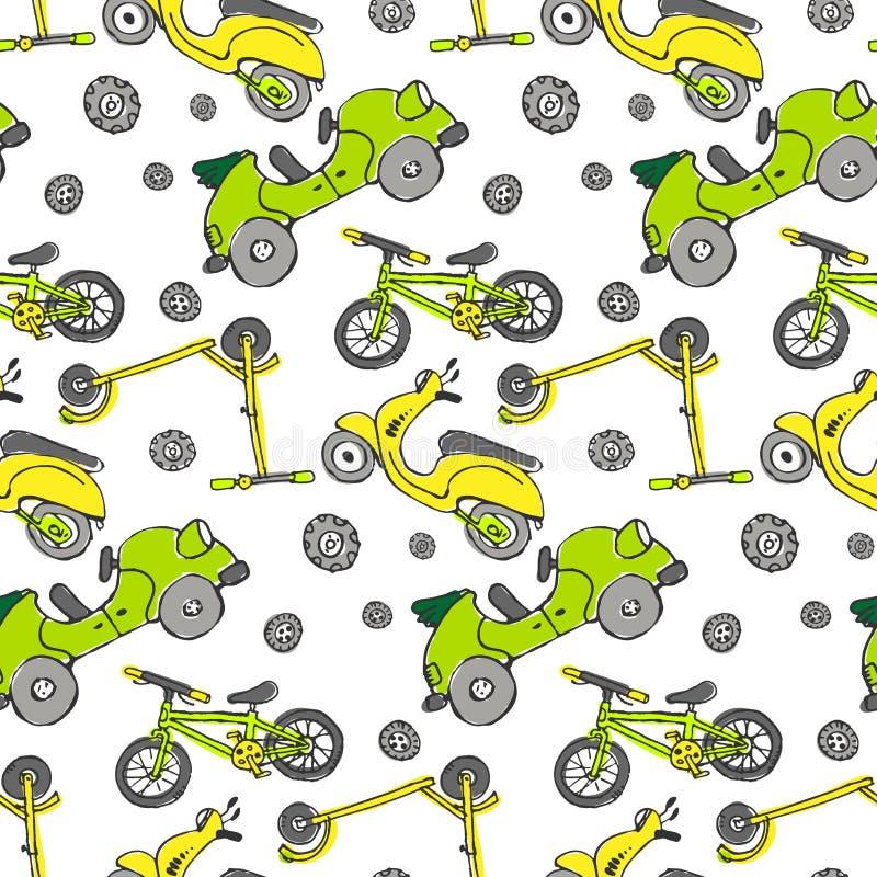 Naadloze auto'stextuur vector illustratie