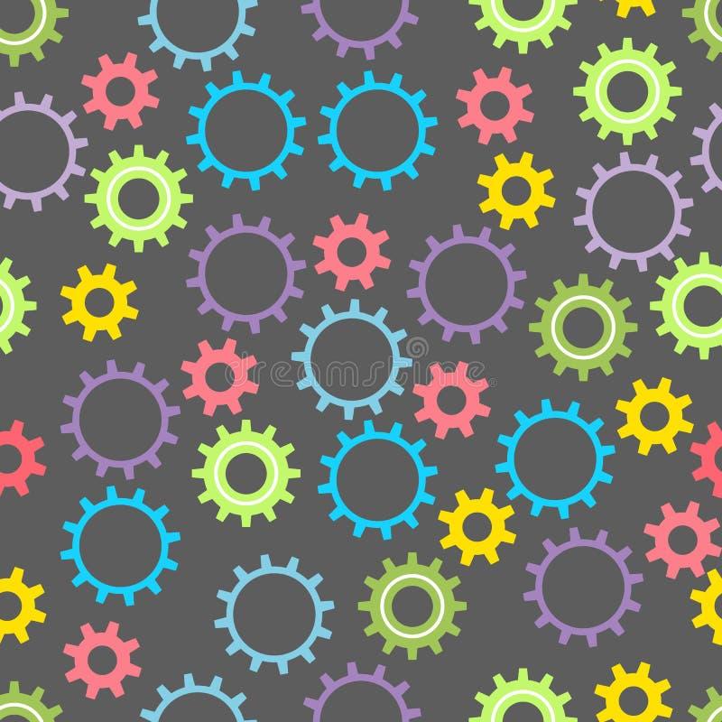 Naadloze babytextuur met gekleurde toestellen op een donkere achtergrond Vector illustratie vector illustratie