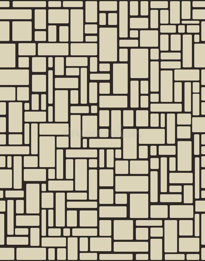 Naadloze Bakstenen muur Vector illustratieachtergrond royalty-vrije illustratie