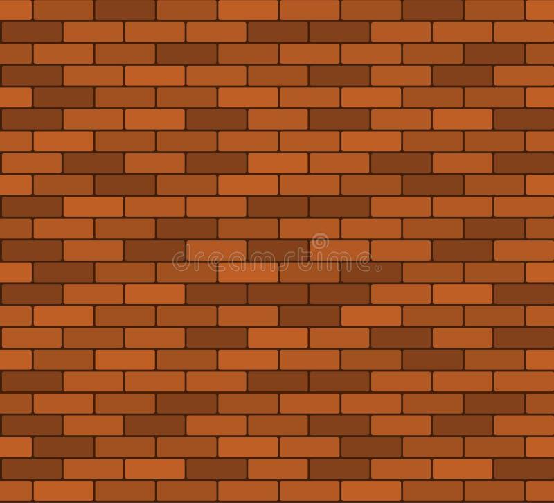 Naadloze bakstenen muurachtergrond stock illustratie