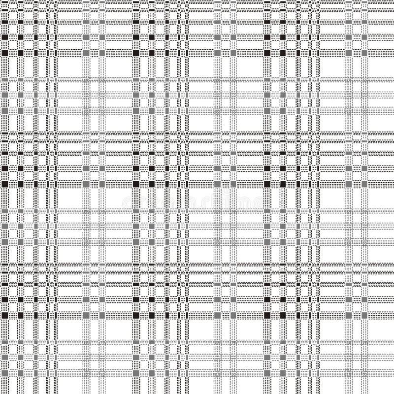 Naadloze beige gecontroleerde patroonreeks royalty-vrije illustratie