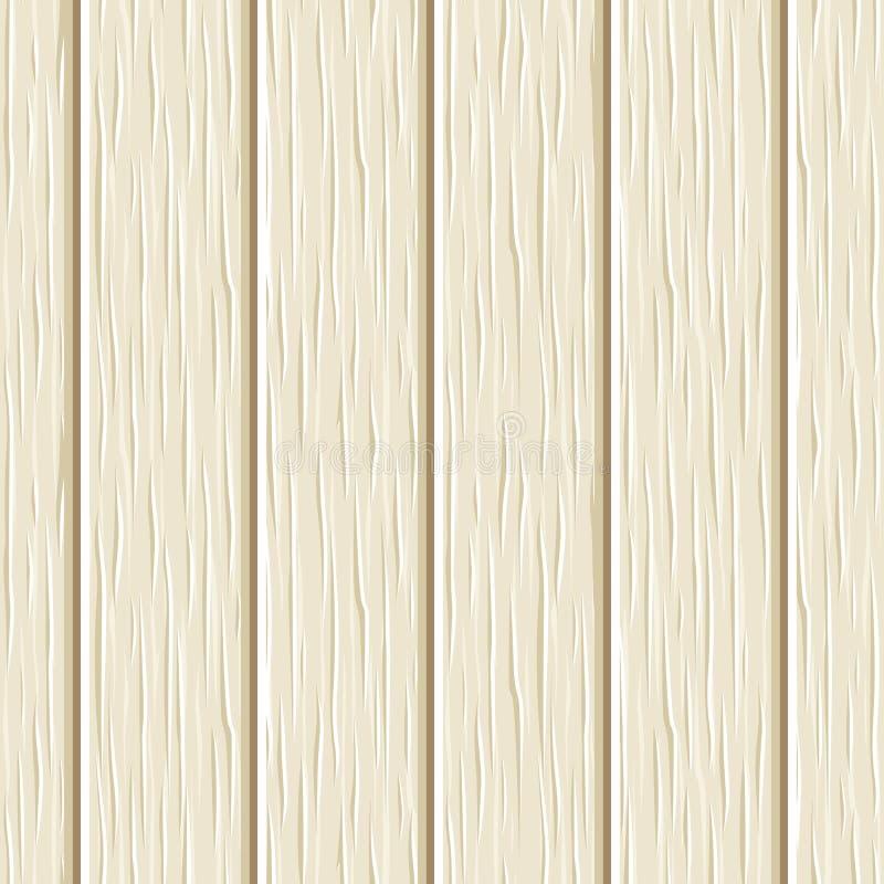 Naadloze beige houten plankentextuur Vector illustratie stock illustratie
