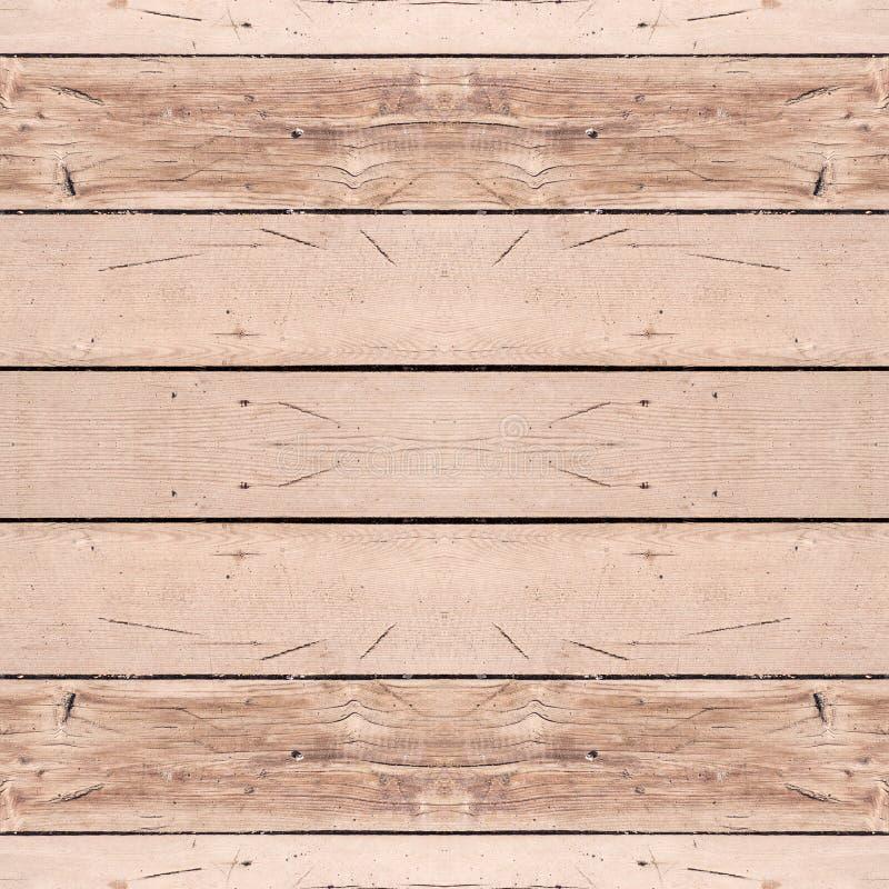 Naadloze beige houten planktextuur, het opruimen Achtergrond stock afbeeldingen