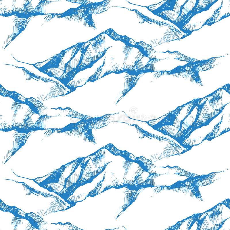Naadloze berg royalty-vrije illustratie