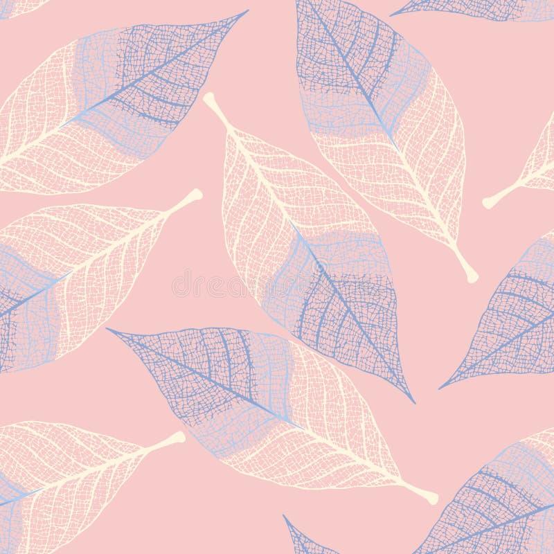 Naadloze bladeren stock illustratie